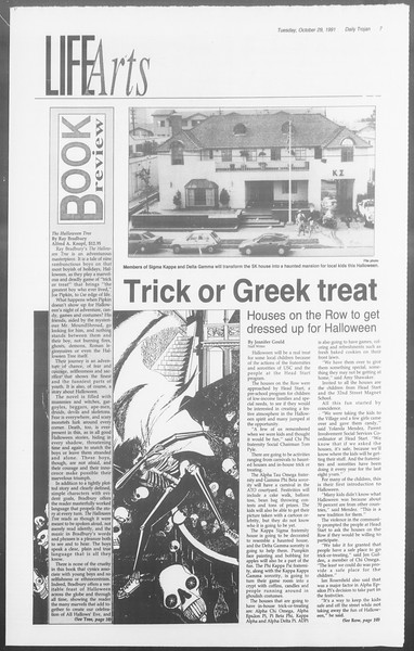 Daily Trojan, Vol. 116, No. 41, October 29, 1991
