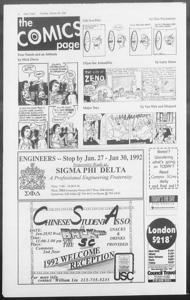Daily Trojan, Vol. 117, No. 9, January 28, 1992