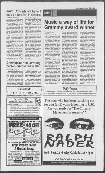 Daily Trojan, Vol. 121, No. 15, September 21, 1993