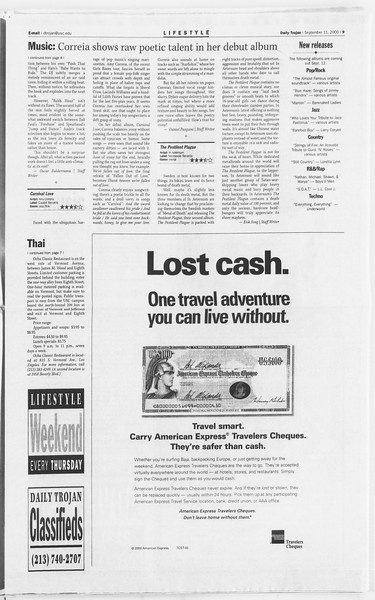 Daily Trojan, Vol. 141, No. 9, September 11, 2000