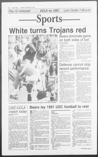 Daily Trojan, Vol. 116, No. 45, November 05, 1991