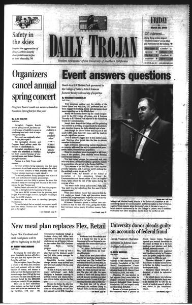 Daily Trojan, Vol. 148, No. 43, March 28, 2003