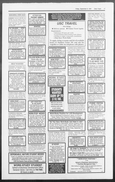 Daily Trojan, Vol. 116, No. 4, September 06, 1991