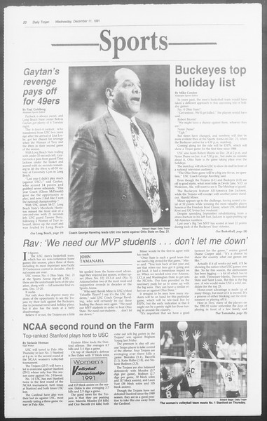 Daily Trojan, Vol. 116, No. 67, December 11, 1991