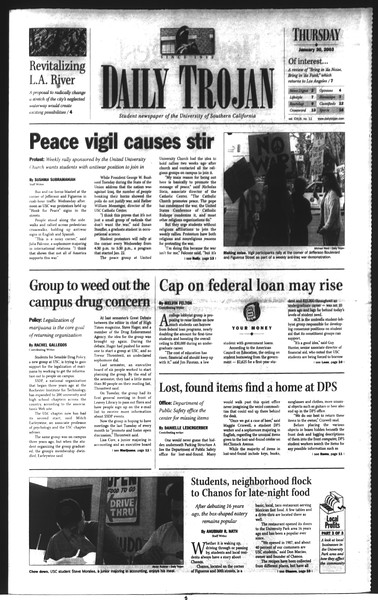 Daily Trojan, Vol. 148, No. 11, January 30, 2003