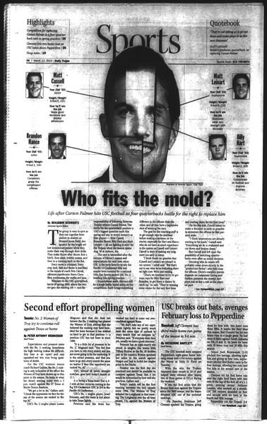 Daily Trojan, Vol. 148, No. 38, March 12, 2003