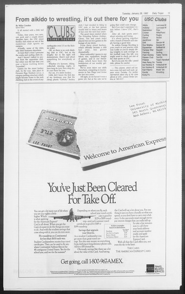 Daily Trojan, Vol. 117, No. 9, January 28, 1992