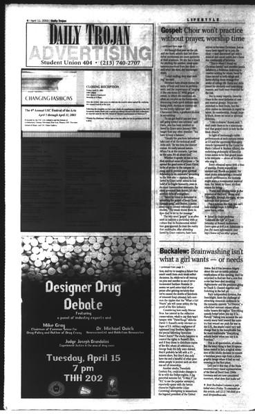 Daily Trojan, Vol. 148, No. 53, April 11, 2003