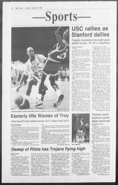 Daily Trojan, Vol. 117, No. 26, February 24, 1992