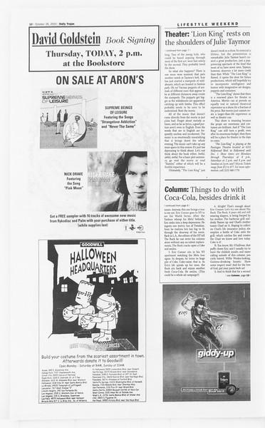 Daily Trojan, Vol. 141, No. 41, October 26, 2000
