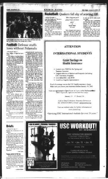 Daily Trojan, Vol. 148, No. 1, January 14, 2003