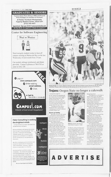 Daily Trojan, Vol. 141, No. 21, September 27, 2000