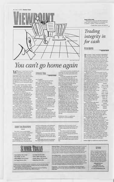 Summer Trojan, Vol. 140, No. 4, June 07, 2000