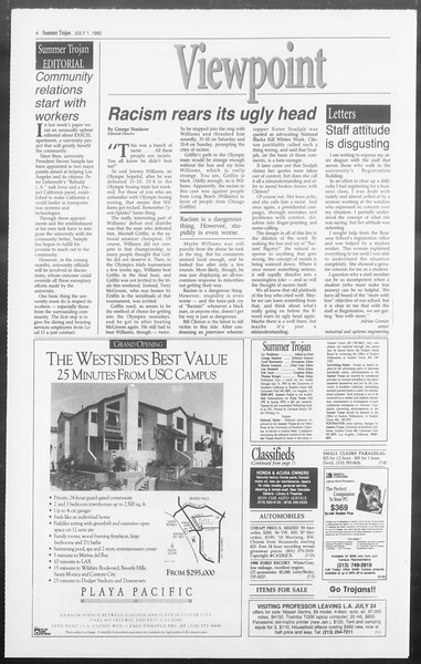 Summer Trojan, Vol. 118, No. 8, July 01, 1992