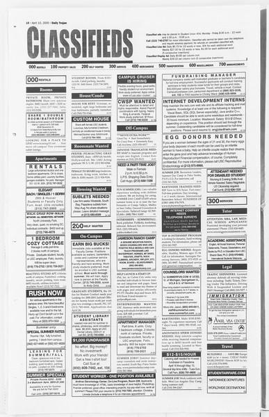 Daily Trojan, Vol. 139, No. 54, April 10, 2000