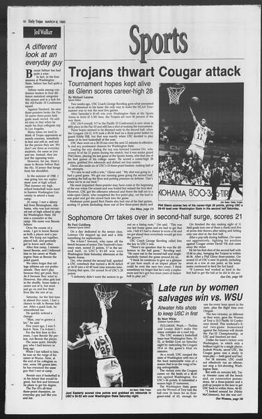 Daily Trojan, Vol. 119, No. 36, March 08, 1993