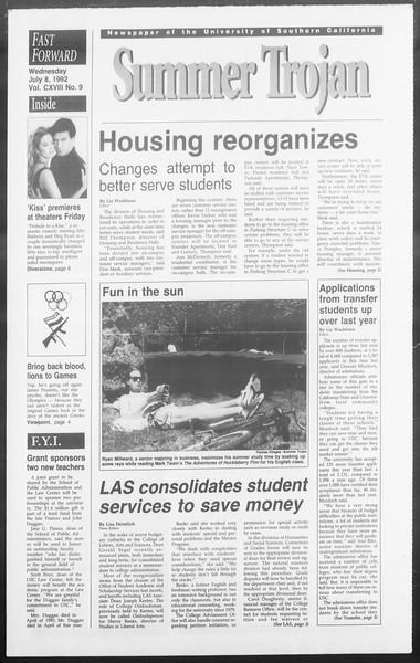 Summer Trojan, Vol. 118, No. 9, July 08, 1992