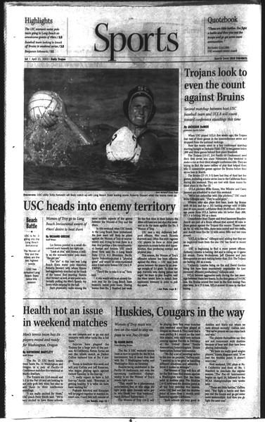 Daily Trojan, Vol. 148, No. 53, April 11, 2003