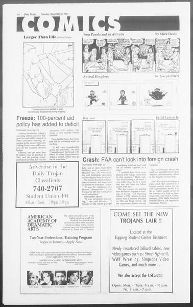 Daily Trojan, Vol. 116, No. 45, November 05, 1991