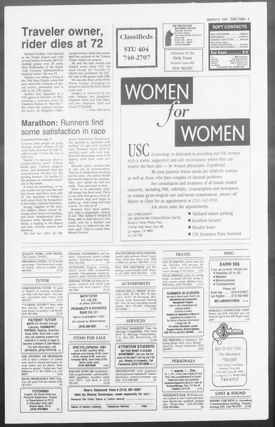 Daily Trojan, Vol. 117, No. 35, March 06, 1992