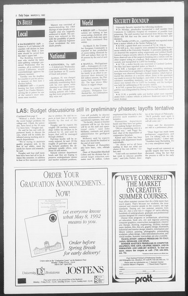 Daily Trojan, Vol. 117, No. 34, March 05, 1992