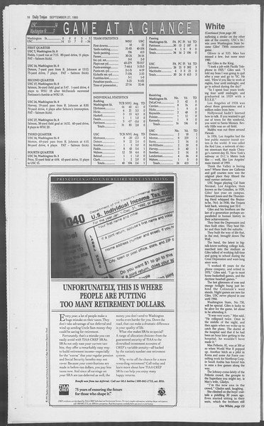 Daily Trojan, Vol. 121, No. 19, September 27, 1993