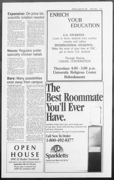 Daily Trojan, Vol. 116, No. 1, August 26, 1991