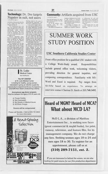 Summer Trojan, Vol. 140, No. 2, May 24, 2000