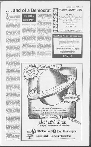 Daily Trojan, Vol. 121, No. 64, December 06, 1993