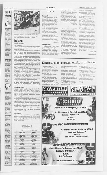 Daily Trojan, Vol. 141, No. 26, October 04, 2000