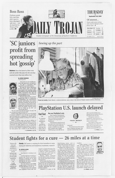 Daily Trojan, Vol. 141, No. 22, September 28, 2000