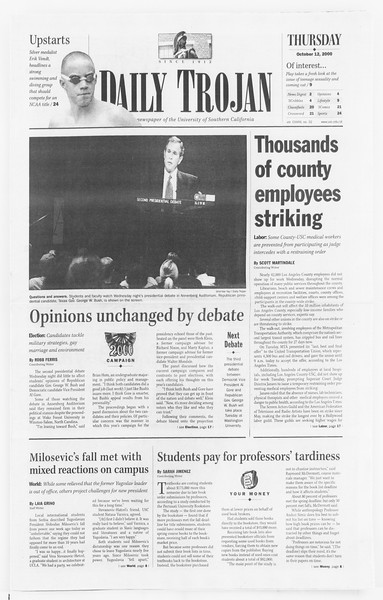 Daily Trojan, Vol. 141, No. 32, October 12, 2000