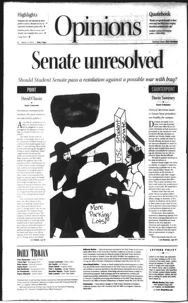 Daily Trojan, Vol. 148, No. 32, March 04, 2003