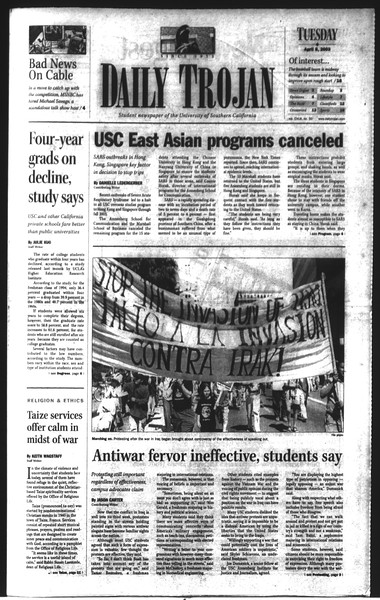 Daily Trojan, Vol. 148, No. 50, April 08, 2003