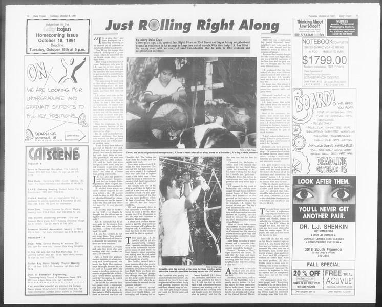 Daily Trojan, Vol. 116, No. 26, October 08, 1991