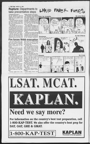 Daily Trojan, Vol. 119, No. 38, March 10, 1993