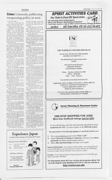 Daily Trojan, Vol. 141, No. 29, October 09, 2000