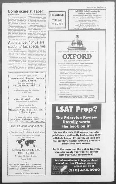 Daily Trojan, Vol. 117, No. 46, March 23, 1992