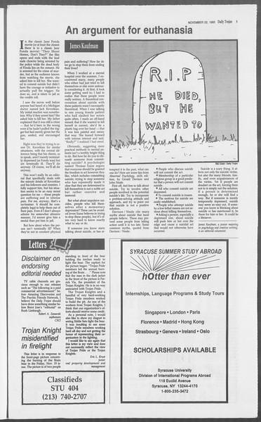 Daily Trojan, Vol. 121, No. 58, November 22, 1993