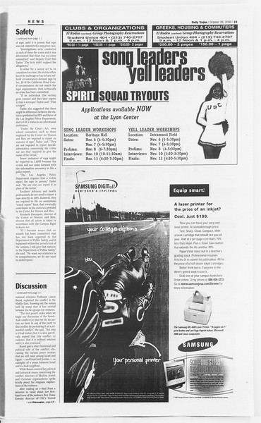 Daily Trojan, Vol. 141, No. 41, October 26, 2000