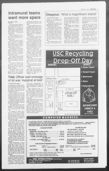 Daily Trojan, Vol. 117, No. 31, March 02, 1992