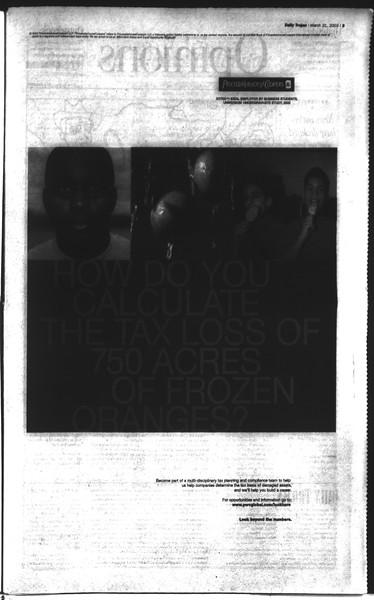 Daily Trojan, Vol. 148, No. 44, March 31, 2003
