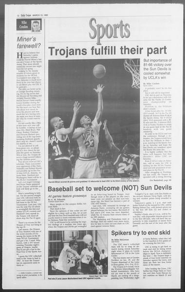 Daily Trojan, Vol. 117, No. 40, March 13, 1992