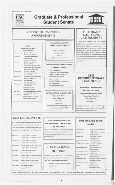Daily Trojan, Vol. 141, No. 26, October 04, 2000