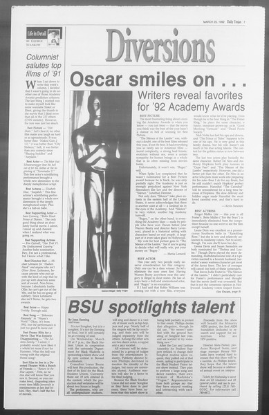 Daily Trojan, Vol. 117, No. 48, March 25, 1992