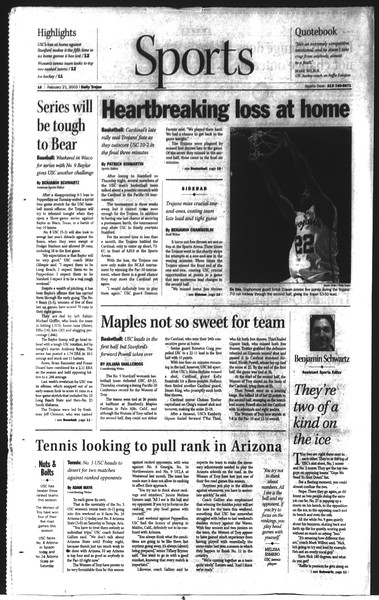 Daily Trojan, Vol. 148, No. 25, February 21, 2003