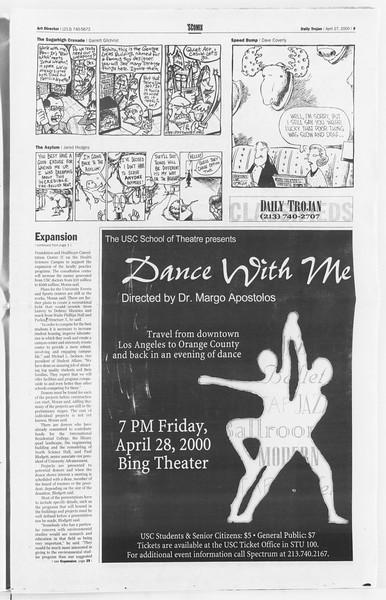 Daily Trojan, Vol. 139, No. 67, April 27, 2000