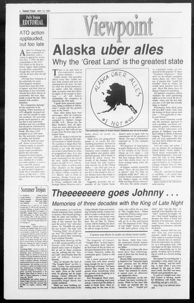 Summer Trojan, Vol. 118, No. 1, May 13, 1992