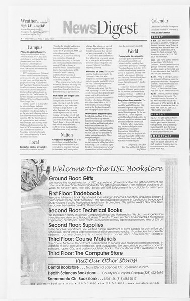 Daily Trojan, Vol. 141, No. 18, September 22, 2000