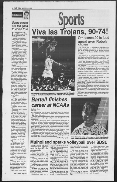 Daily Trojan, Vol. 119, No. 44, March 18, 1993